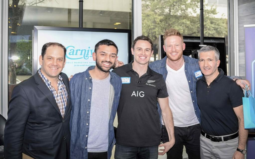 Andrew Morse, CNN; Ashish Patel, NowThis; Guy Horrocks, Carnival Mobile; Ben Hindman, Splash; & Carlos Becil, Equinox