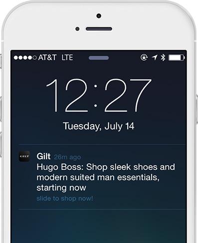 Gilt-reminder-push-notifications